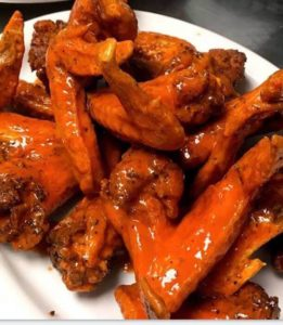 large chicken wings at the peanut